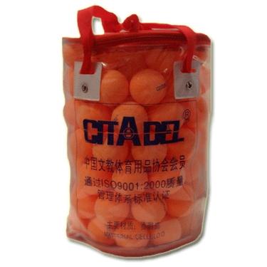 Мячик н/т 40 мм 9001 3* бел/оранж.со швом 100шт в сумочке 11175