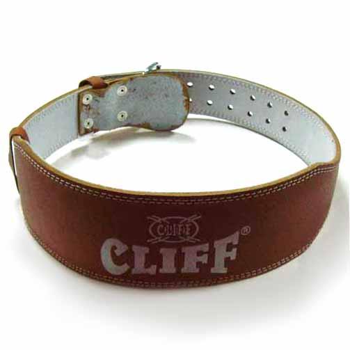 Пояс т/а CLIFF LB-4 нат.кожа коричневый узкий р.M (дл.109см обхват 75-95см)