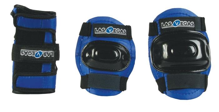 Комплект защиты роликовый CLIFF YD-0024 р.M синий