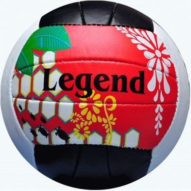 Мяч в/б Спринтер LEGEND бело-черно-красный шитый для пляж.в/б  05202