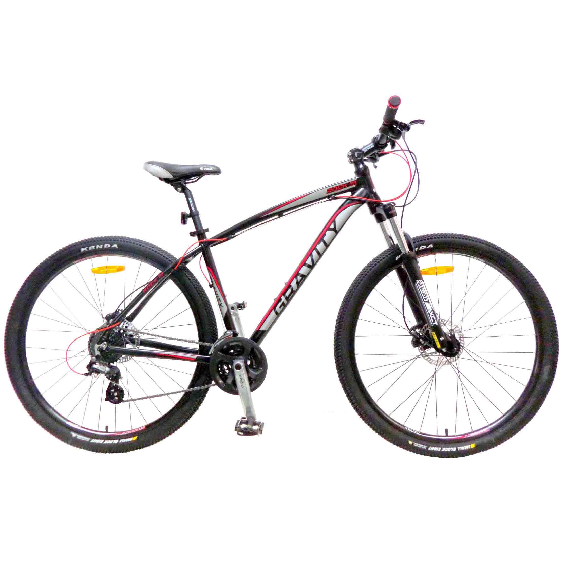 "Велосипед Gravity 29"" ROCK 24 скор. алюм.рама 19"" гидр.диск.торм. серый (7316) УЦЕНКА!!! 270917"
