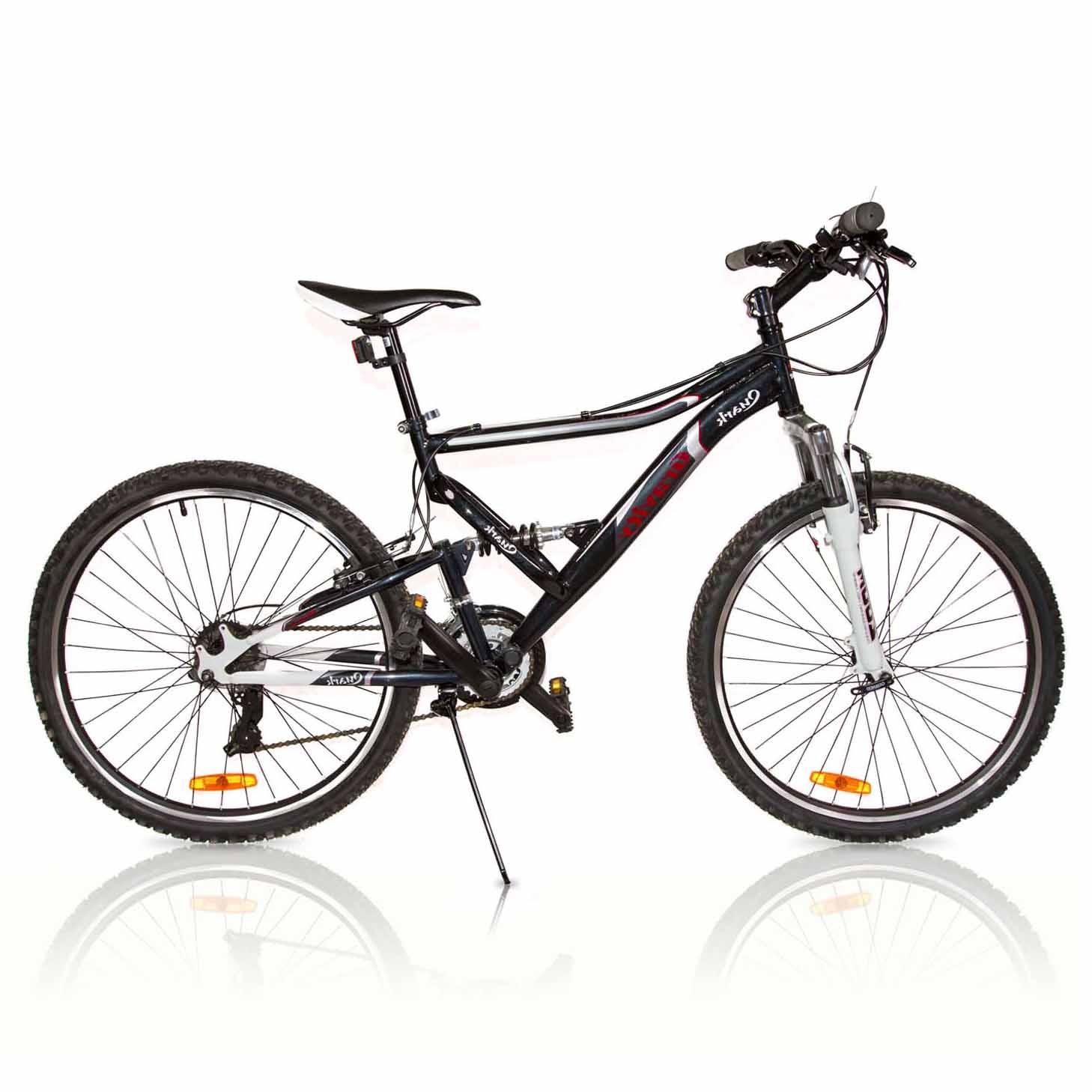 """Велосипед Gravity 26"""" QUARK двухподвес 21 скор. стал.рама 17"""" черный (7208)"""