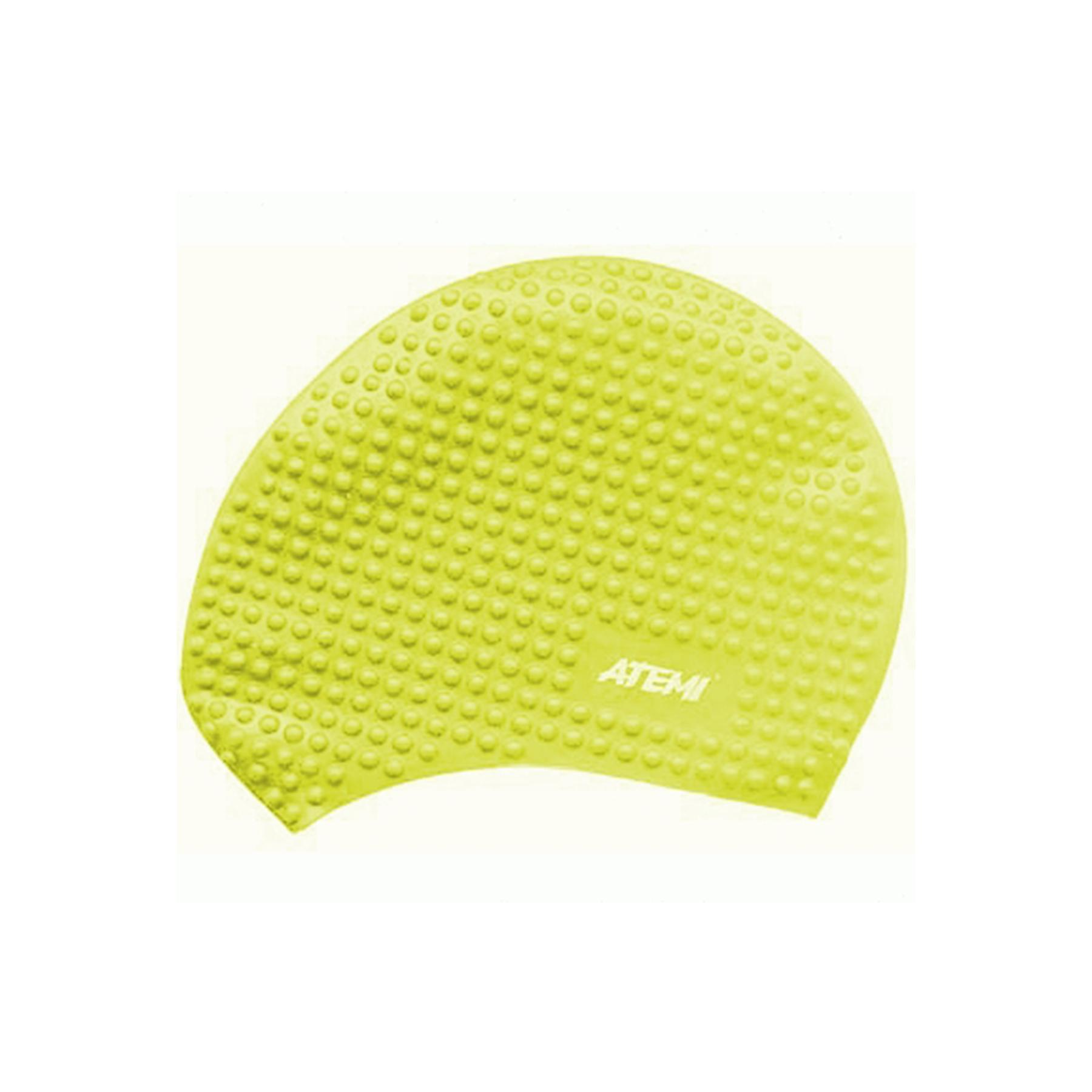Шапочка АТ BS 30 силикон для длинных волос бабл желтая