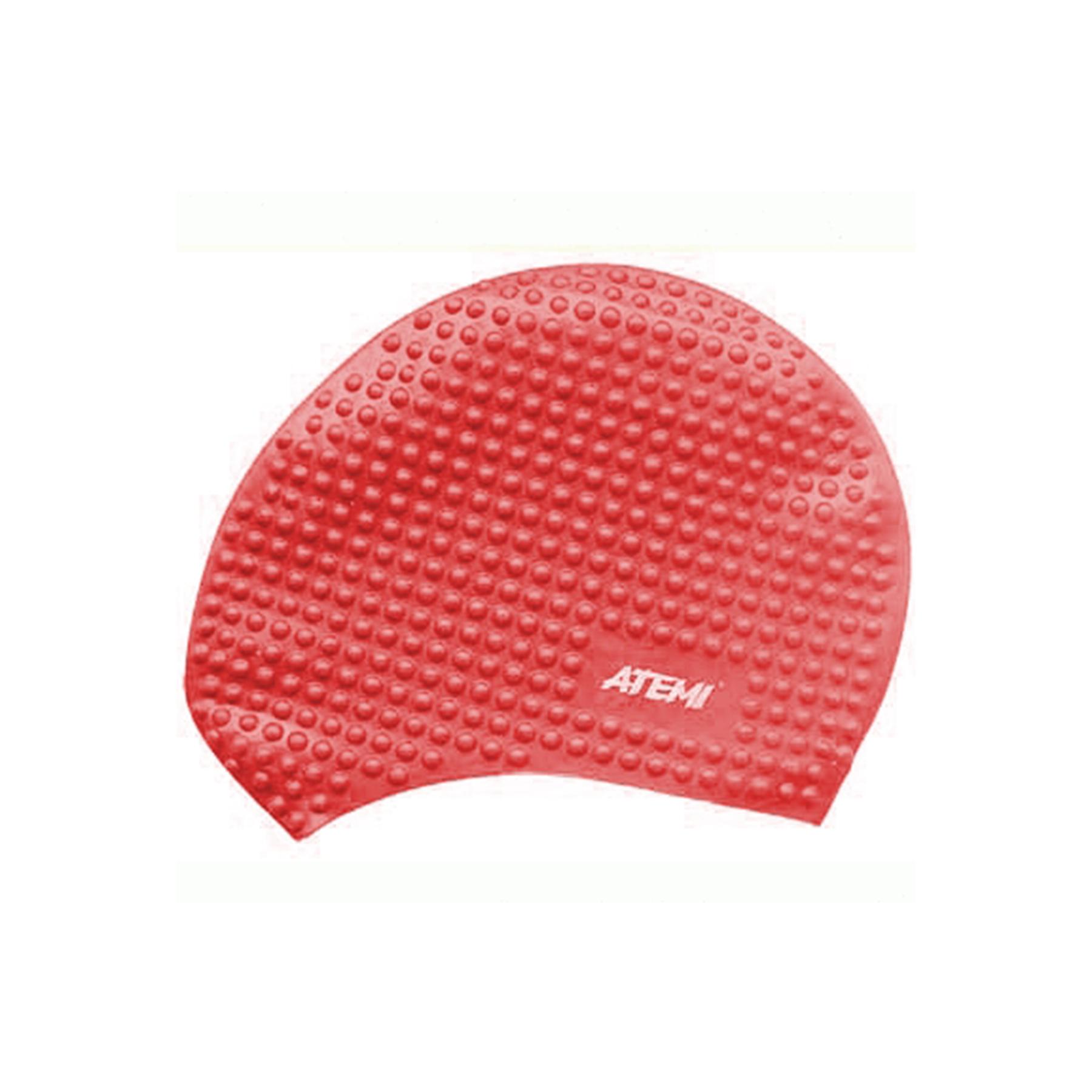 Шапочка АТ BS 40 силикон для длинных волос бабл красная
