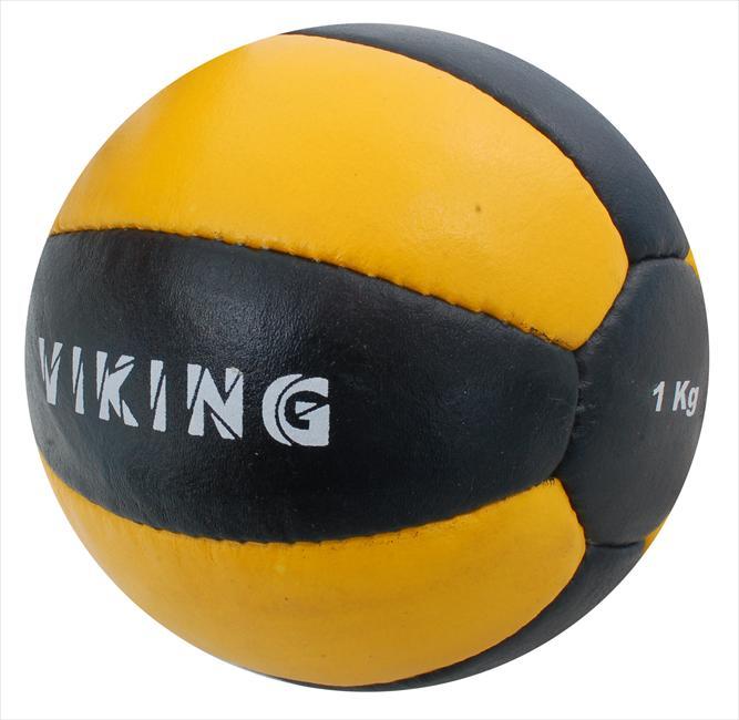 Мяч медбол Бествик 1 кг В2345-1 нат.кожа черно-желтый АКЦИЯ!!! 5.8