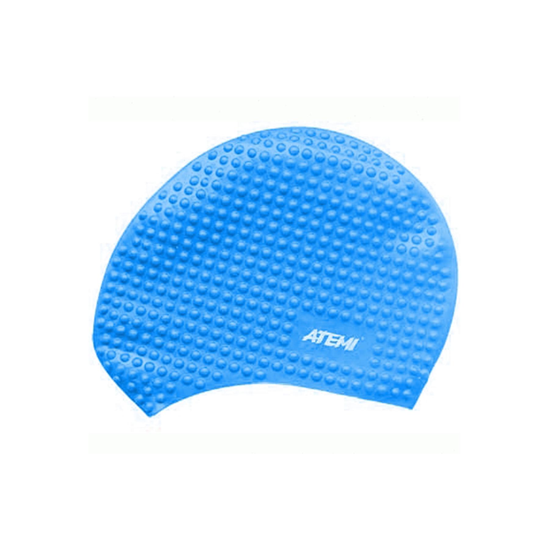 Шапочка АТ BS 60 силикон для длинных волос бабл голубая
