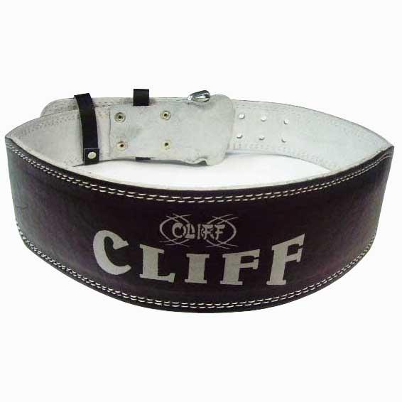 """Пояс т/а CLIFF LB-4"""" кожзам черный р.XL (дл.120см обхват 87-107см)"""