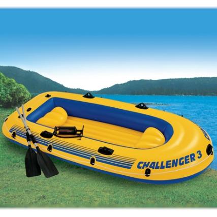 68370 Лодка Челленджер-3 295*137*43 см +весла+насос груз. 300кг АКЦИЯ!!!!!