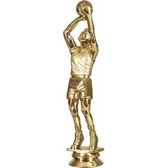 """Фигурка F 01/G """"Баскетбол"""" золото на постаменте h-17см"""