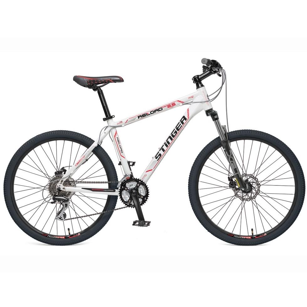 "Велосипед Stinger 26"" Х38548 Релоад XR2.5 24ск. алюм.рама 20д. 2диск.торм,дв.обода белый"