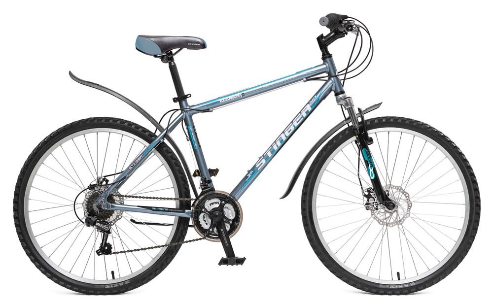 """Велосипед Stinger 26"""" Х58467 Элемент D алюм хардтейл 18ск. рама 16д. серый"""