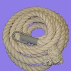 Канат х/б 7м d=30мм с крепежным стаканом и крюком