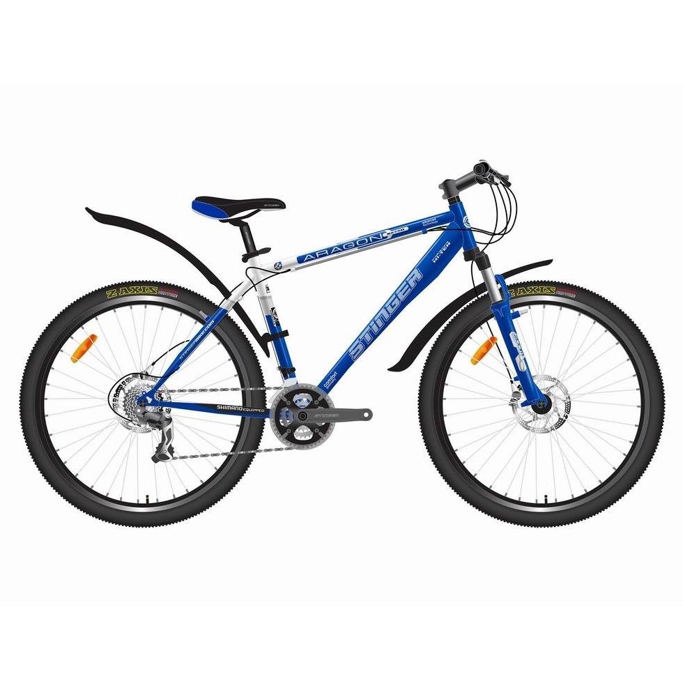 """Велосипед Stinger 24"""" Х50756 Арагон S270D хардт. 21ск. рама 16д. сине-белый"""