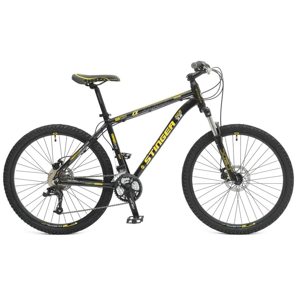 "Велосипед Stinger 26"" Х50780 Альфа 3.5 хардт. 24ск. алюм.рама 20д. черно-желтый"