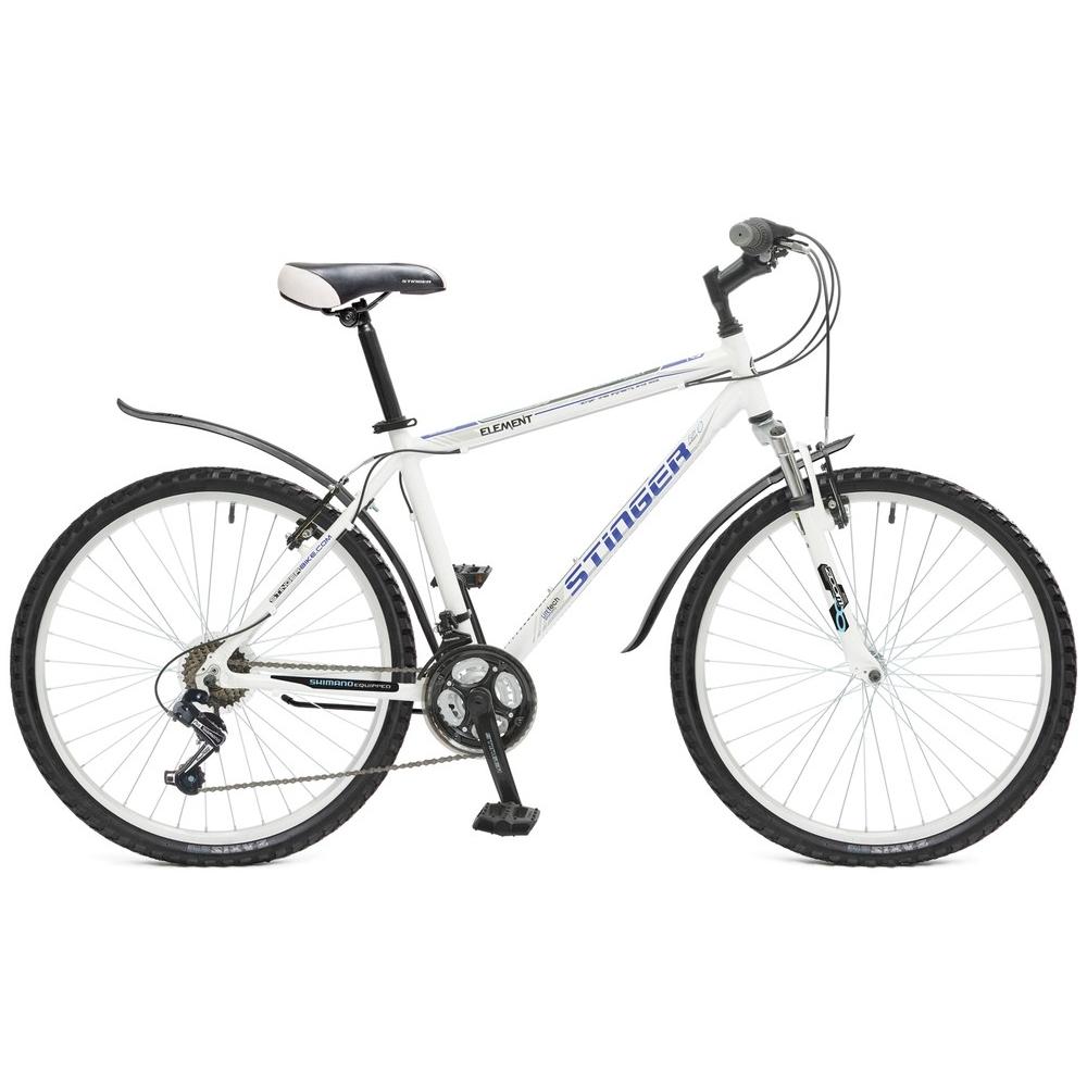 """Велосипед Stinger 26"""" Х50768 Элемент хардт. 18ск. алюм.рама 18д. белый"""