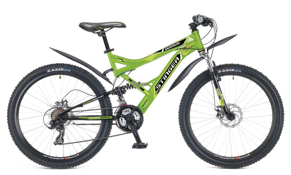 "Велосипед Stinger 26"" Х60868 Версус D аморт. 21ск. рама 20д. черно-красный"