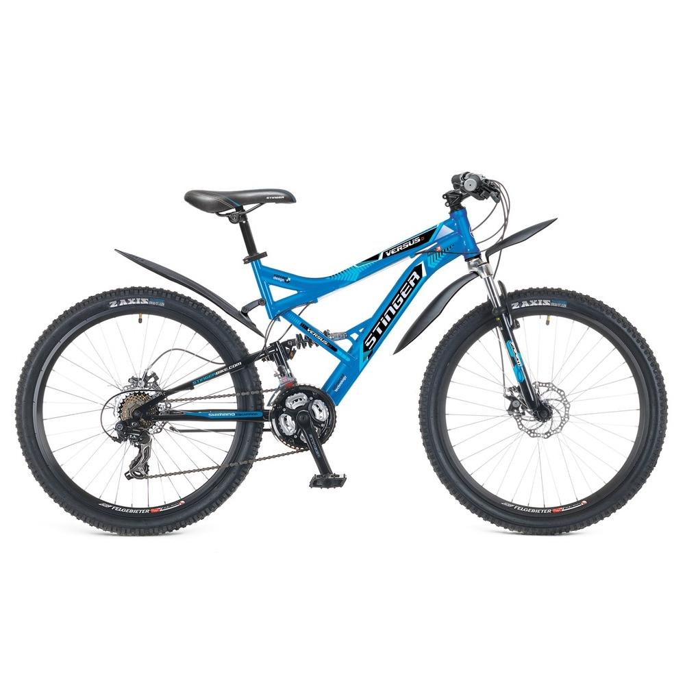 "Велосипед Stinger 26"" Х60865 Версус D аморт. 21ск. рама 18д. синий"