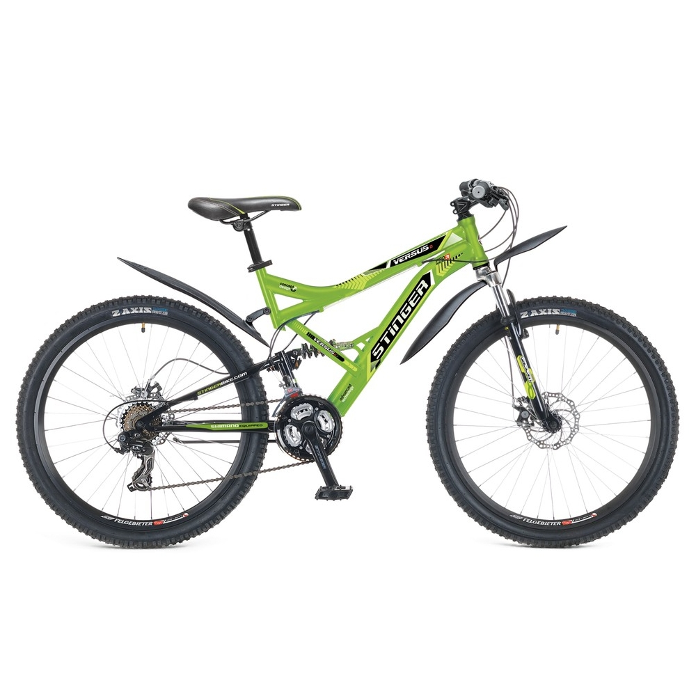 "Велосипед Stinger 26"" Х60869 Версус D аморт. 21ск. рама 20д. зелено-черный"