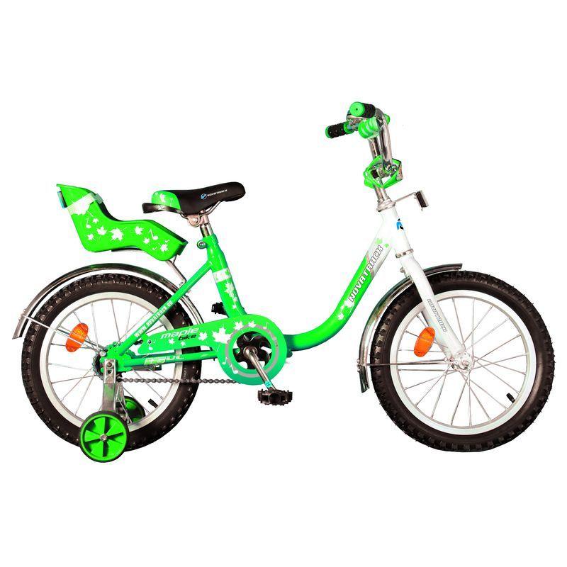 "Велосипед Novatrack 12"" Х32041 UL-тип нож.торм, хром.крыл,багаж зеленый АКЦИЯ!!!"