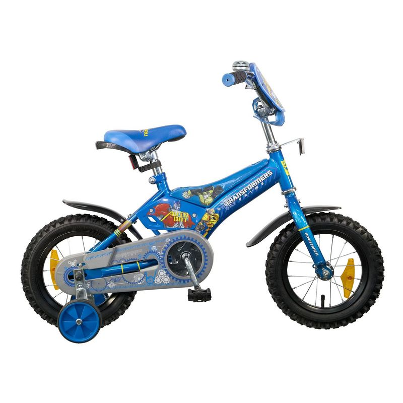 """Велосипед Novatrack 12"""" Х44899 Трансформерс пласт.корот.крыл. синий АКЦИЯ!!!"""