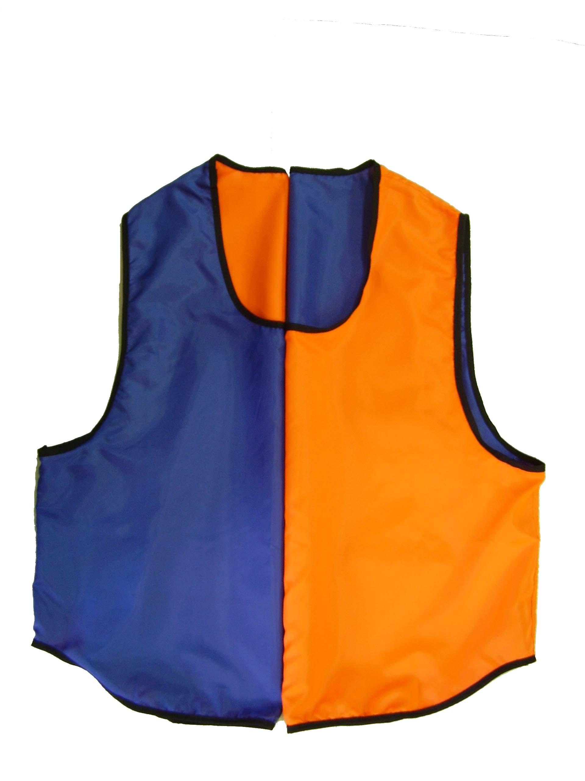 Манишка тренировочная двухсторонняя МТ-2 о-с /оранж-синяя/