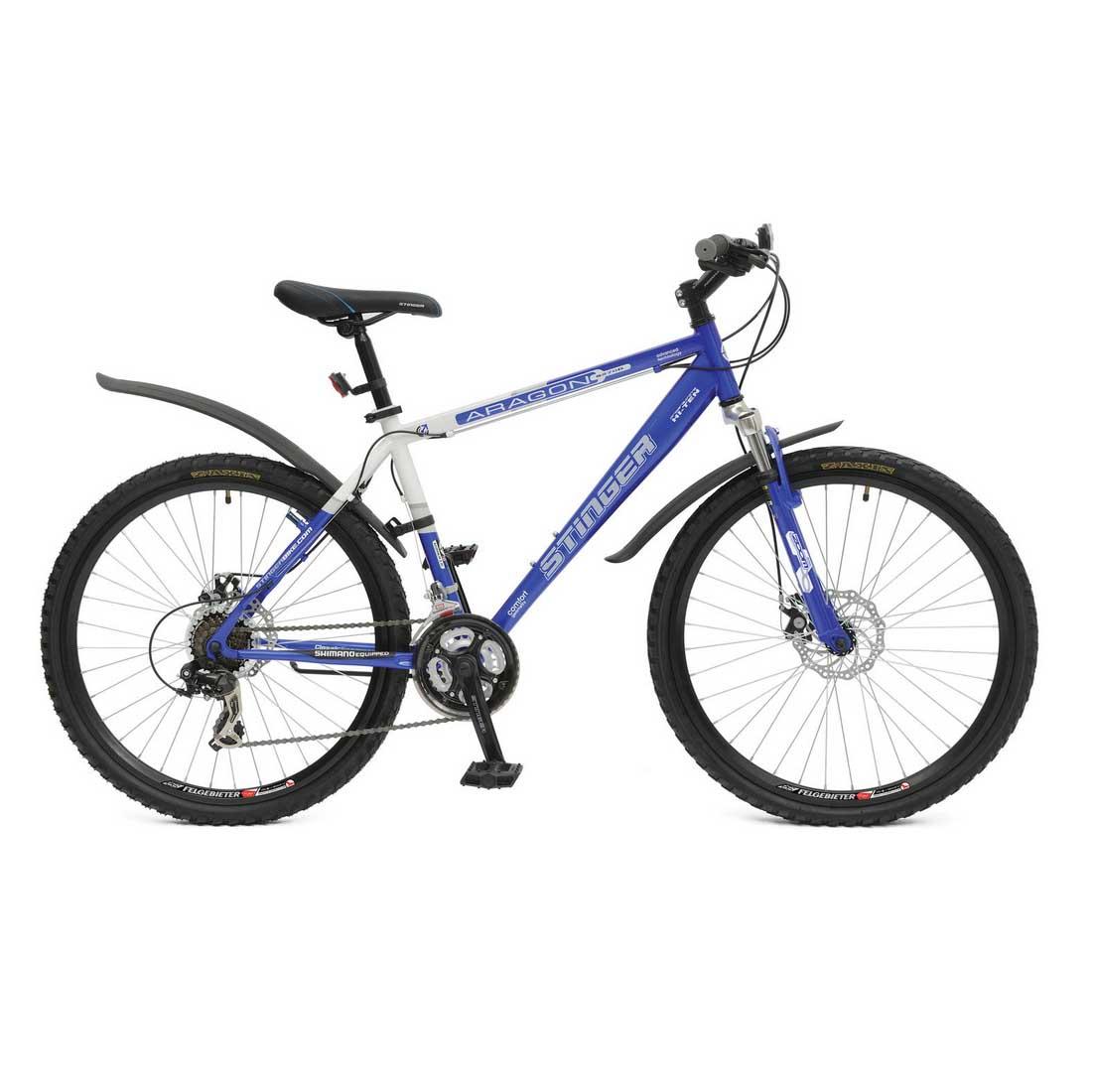 "Велосипед Stinger 26"" Х50760 Арагон S270D хардт. 21ск. стал.рама 18д. голубо-белый"