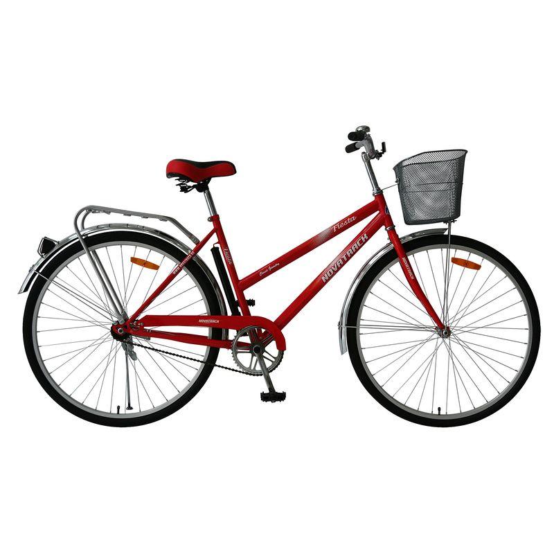"""Велосипед Novatrack 28"""" Х62675 Lady Fiesta жен.дорожный перед.корз. красный"""