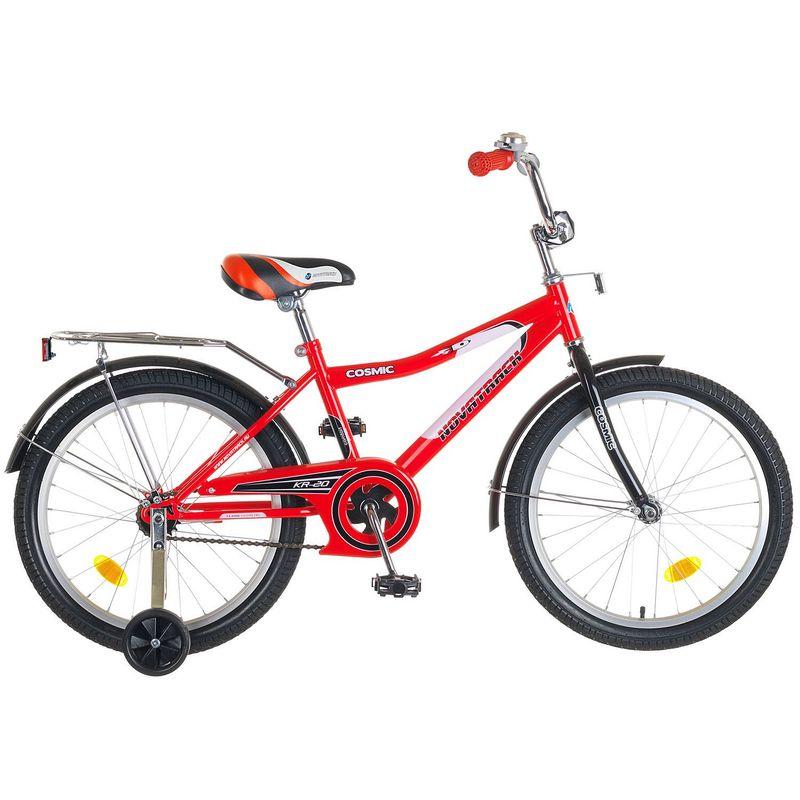 """Велосипед Novatrack 20"""" Х50289 Космик ножн.торм,хром.багаж красно-черный"""