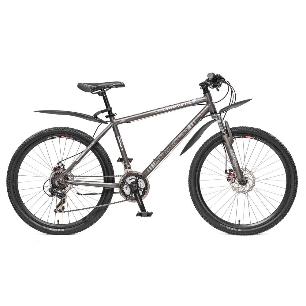 "Велосипед Stinger 26"" Х59769 Графит алюм. хардт. 21ск. рама 20д.2диск.торм. серый"