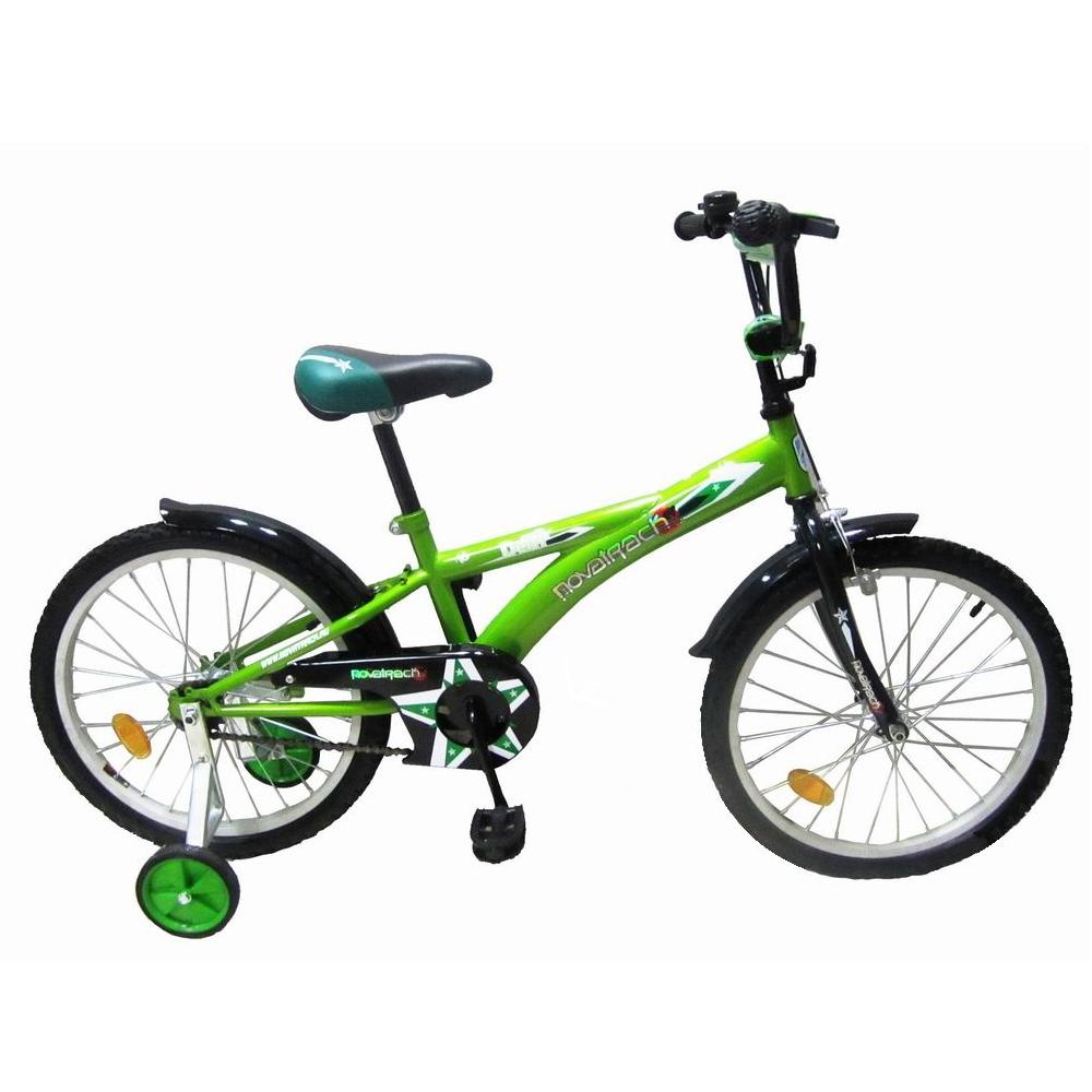 """Велосипед Novatrack 20"""" Х44130 Delfi F-тип руч,ножн.торм. салатово-черный"""