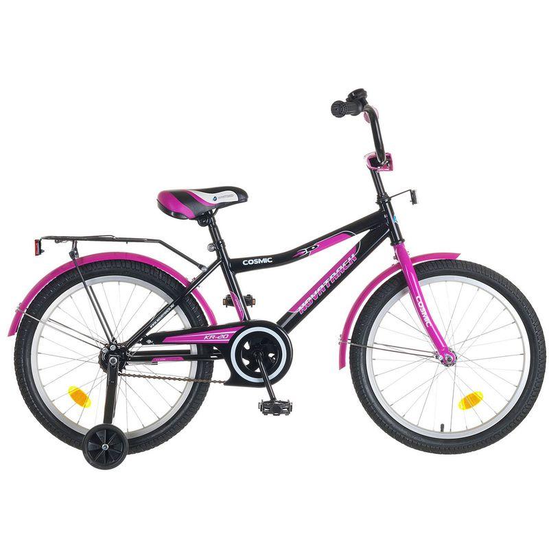 """Велосипед Novatrack 20"""" Х50291 Космик ножн.торм черно-фиолетовый"""