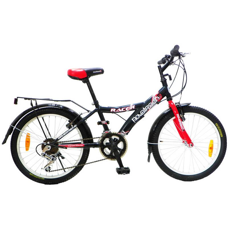 """Велосипед Novatrack 20"""" Х43952 YL-тип 12ск.2руч.торм,багаж красно-черный АКЦИЯ!"""