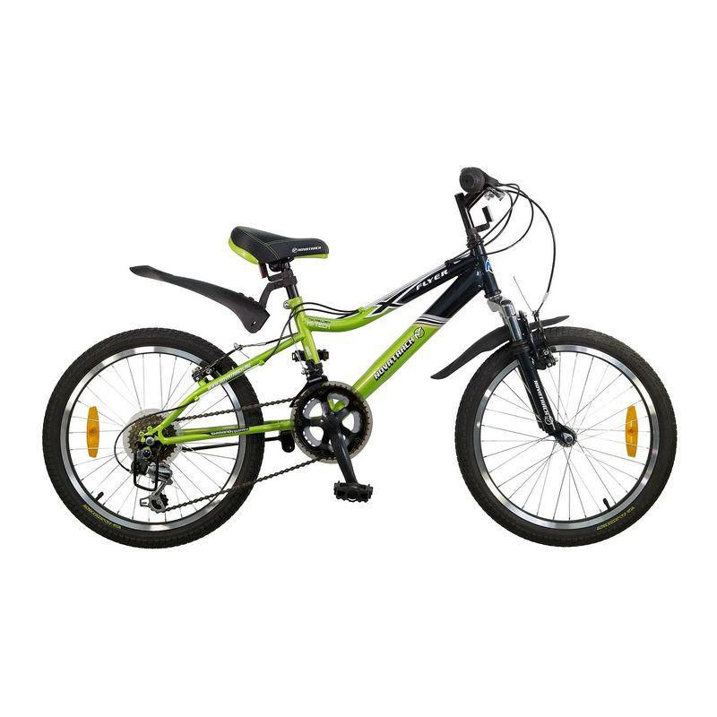 """Велосипед Novatrack 20"""" Х44279 Флайер 12ск. сталь зелено-черный"""