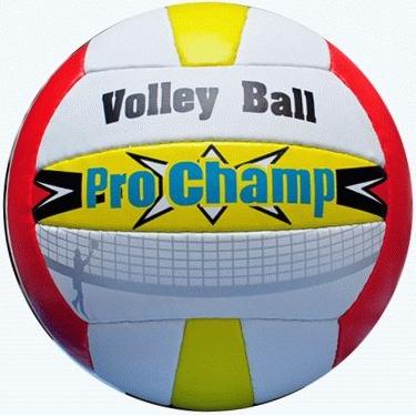 Мяч в/б Спринтер ProChamp красно-желто-белый шитый для пляж.в/б  05200