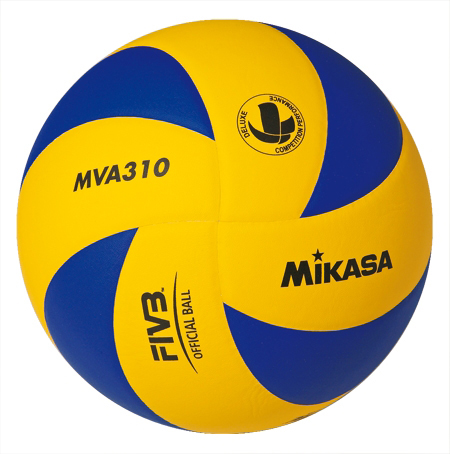Мяч в/б Микаса MVA 310 клееный синт. кожа желто-синий №5
