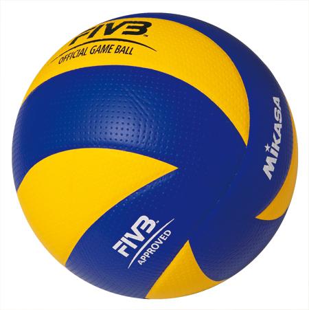 Мяч в/б Микаса MVA 200 офиц. мяч Олимпиады 2008 г, япон. MicFiber желто-син