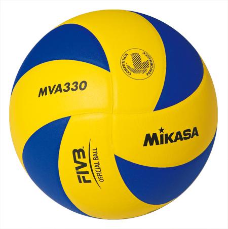 Мяч в/б Микаса MVA 330 клееный япон.синт.кожа желто-синий №5
