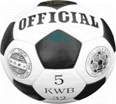 Мяч ф/б 2500/20А Official KWB 32 №5 бело-черный