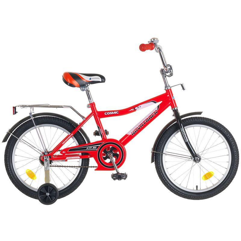 """Велосипед Novatrack 18"""" Х50281 Космик ножн.торм хром.багаж красно-черный"""
