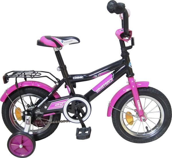 """Велосипед Novatrack 12"""" Х52486 Космик нож.торм, хром.крыл,багаж черный АКЦИЯ!!!"""