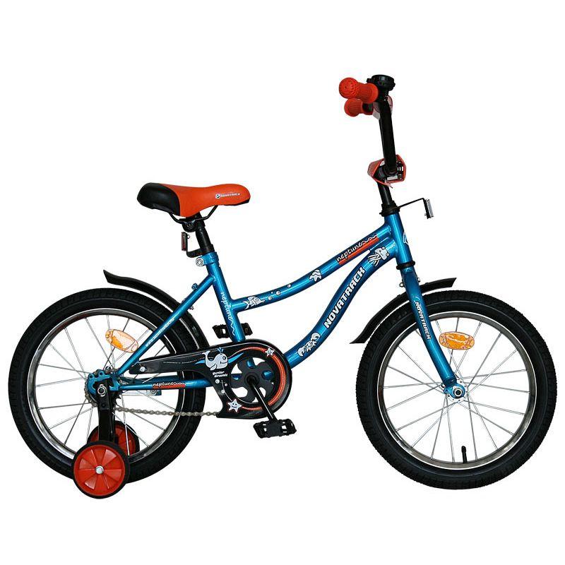"""Велосипед Novatrack 14"""" Х60730 Нептун А-тип корот.крыл. синий"""