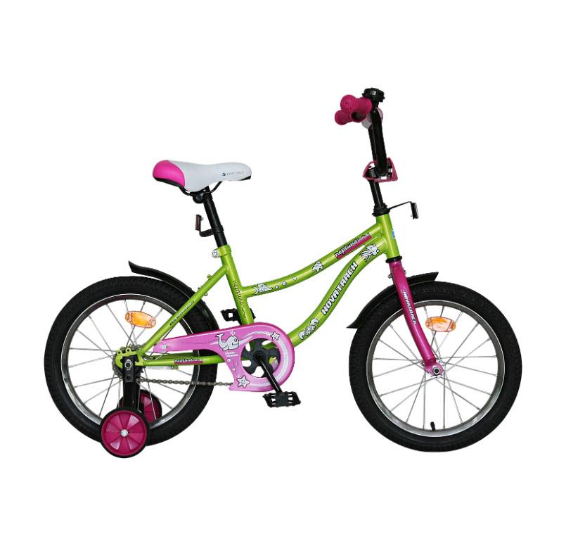 """Велосипед Novatrack 14"""" Х60732 Нептун А-тип корот.крыл. салатовый"""
