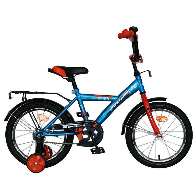 "Велосипед Novatrack 14"" Х60735 Астра А-тип хром.крыл,багаж синий"