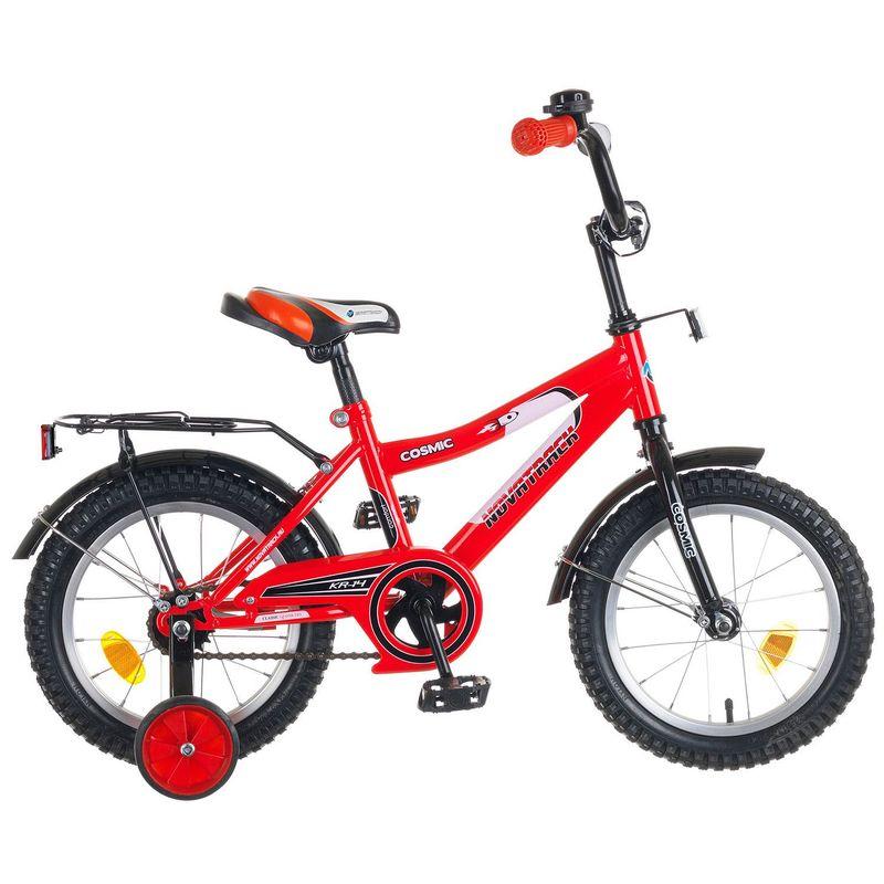 "Велосипед Novatrack 14"" Х50269 Космик ножн.торм, хром.багаж. красный"