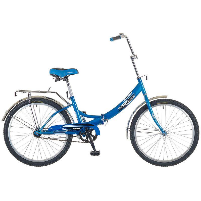 "Велосипед Novatrack 24"" Х52035 складной ножн.торм, ал.обода синий"