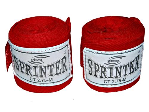 Бинт боксерский Sprinter хлопок длина 2,75 м  03001