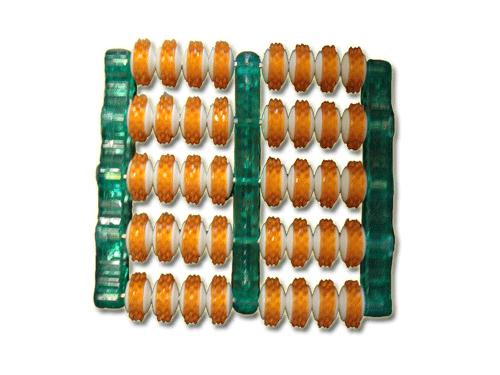 Массажер 10047 для ног 2х рядный шип. ролики, пластик 312