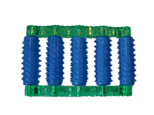 Массажер 10049 для ног одинарный 1х5 шип. ролики 316