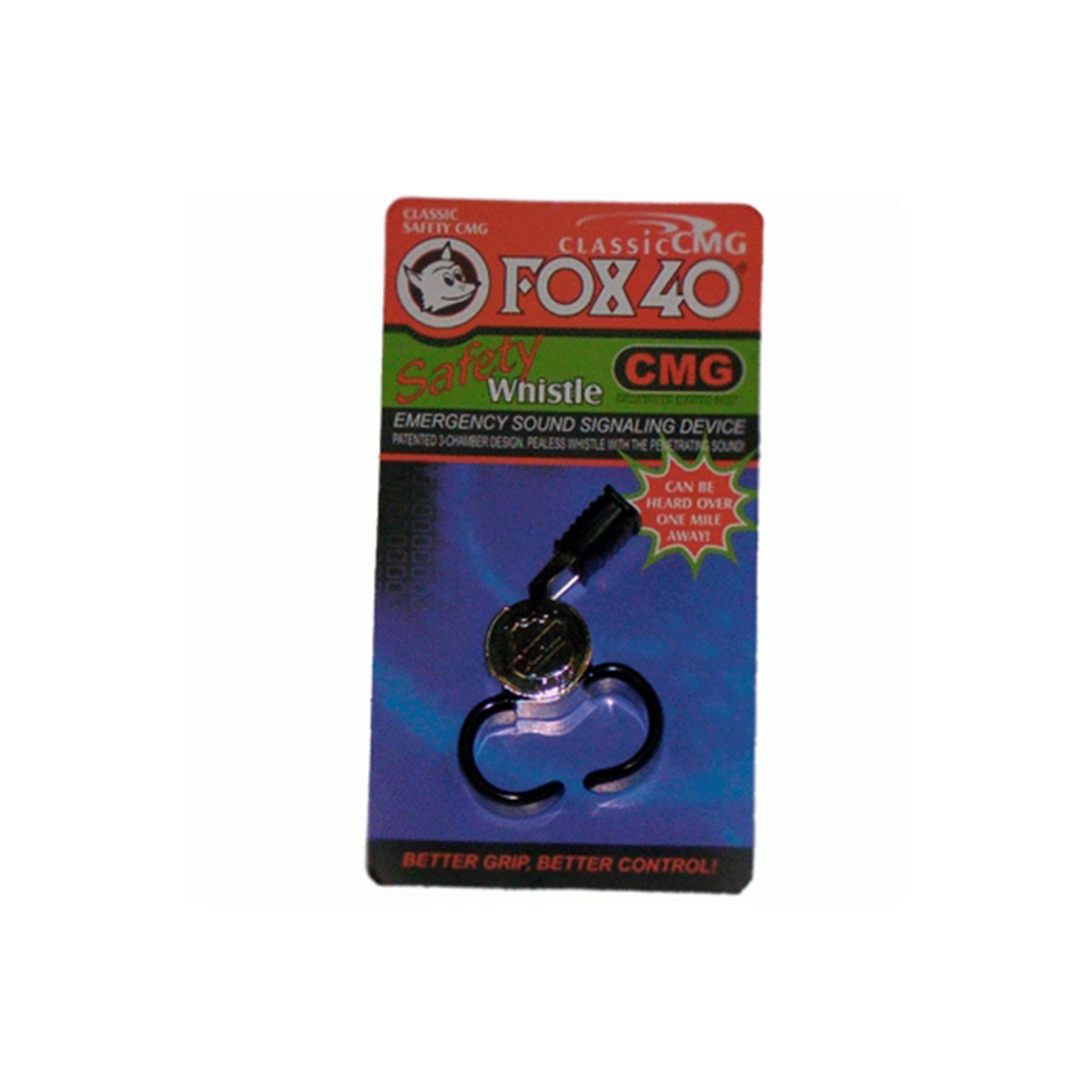Свисток судейский металл. GMC Fox40 Safety Whistle с насадкой PU и шариком  19127