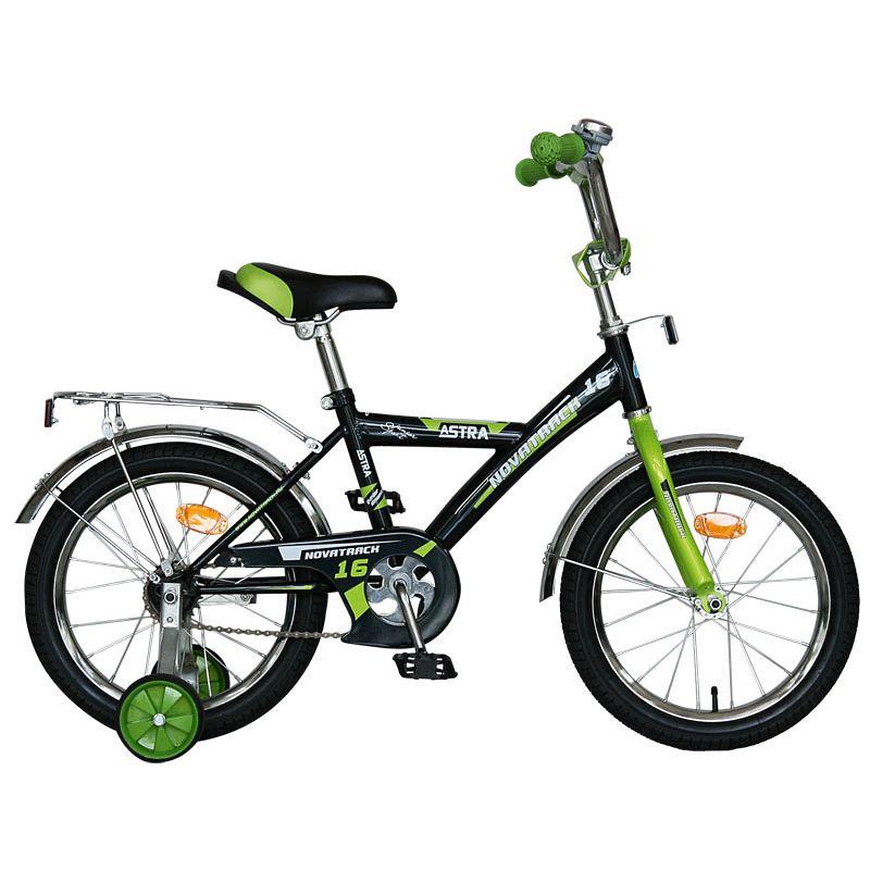 "Велосипед Novatrack 14"" Х60734 Астра А-тип хром.крыл,багаж черный"